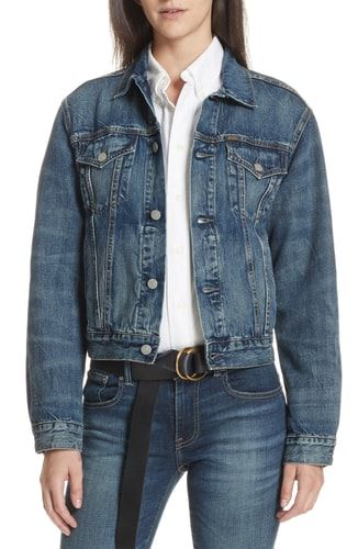 1cb874cfd9ac5d New Polo Ralph Lauren Flag Trucker Denim Jacket online.   228  from top  store theoffersstyle