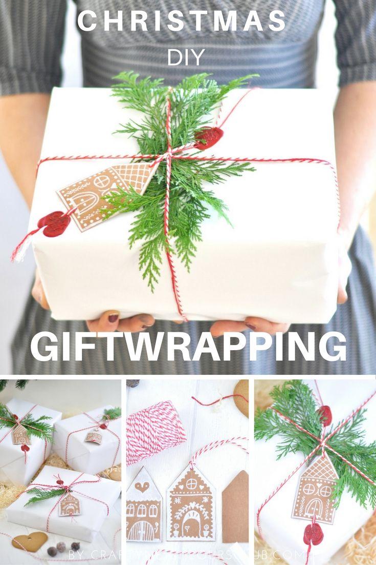 Eine schöne Geschenkidee sind diese hübschen Gingerbread-Geschenkanhänger. Unser DIY auf dem Blog Craftyneighboursclub.com