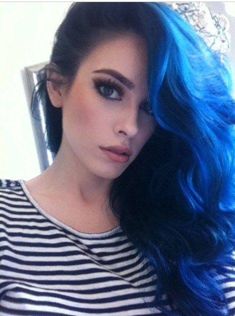 Цвет волос аквамарин