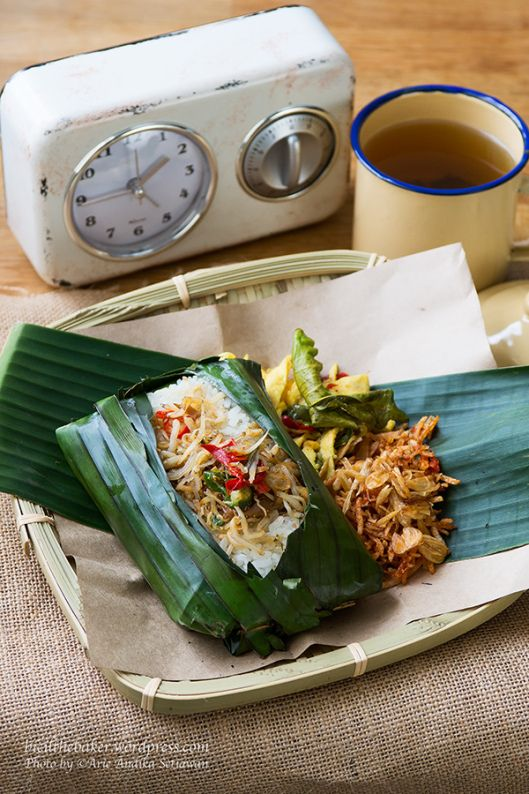 Nasi Bakar Teri – Grilled Salted Fish Rice