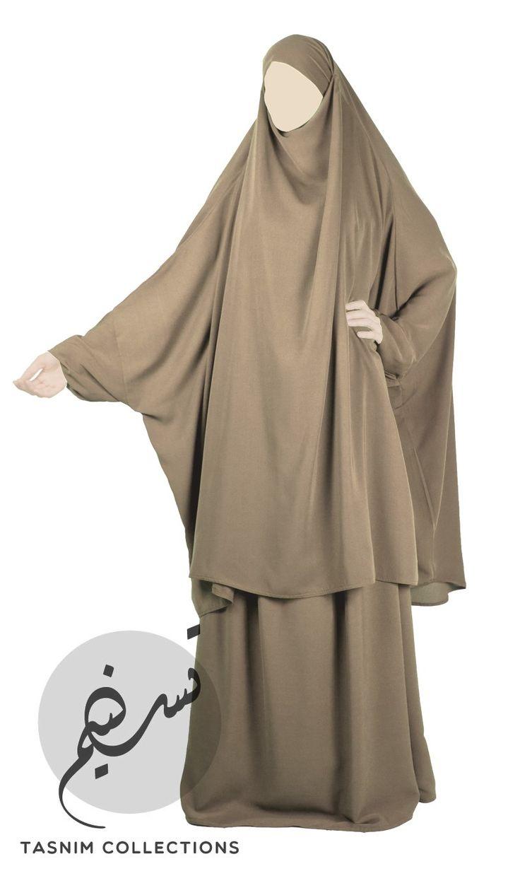 2-dels jilbab, sand