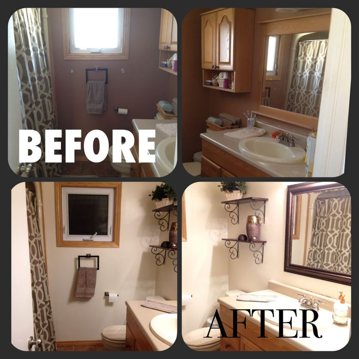Bathroom remodel. Still need to stain the cabinet