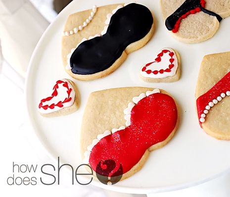Valentine s Day Gift Ideas for Him: Lingerie Sugar Cookies, Rated PG 13