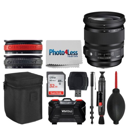 Sigma 24-105mm f/4 DG OS HSM Art Lens for Canon EF  Top Value Accessory Bundle!