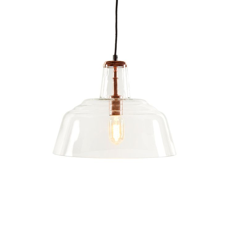 Buy Glass pendant, clear glass with steel in plated copper 13*13*10 (LA1302A EA 00) online easily, and securely with Bois & Cuir. Choose from a wide selection of Pendants.