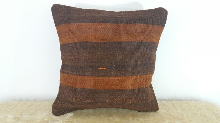 Black and Orange Pillow Cover