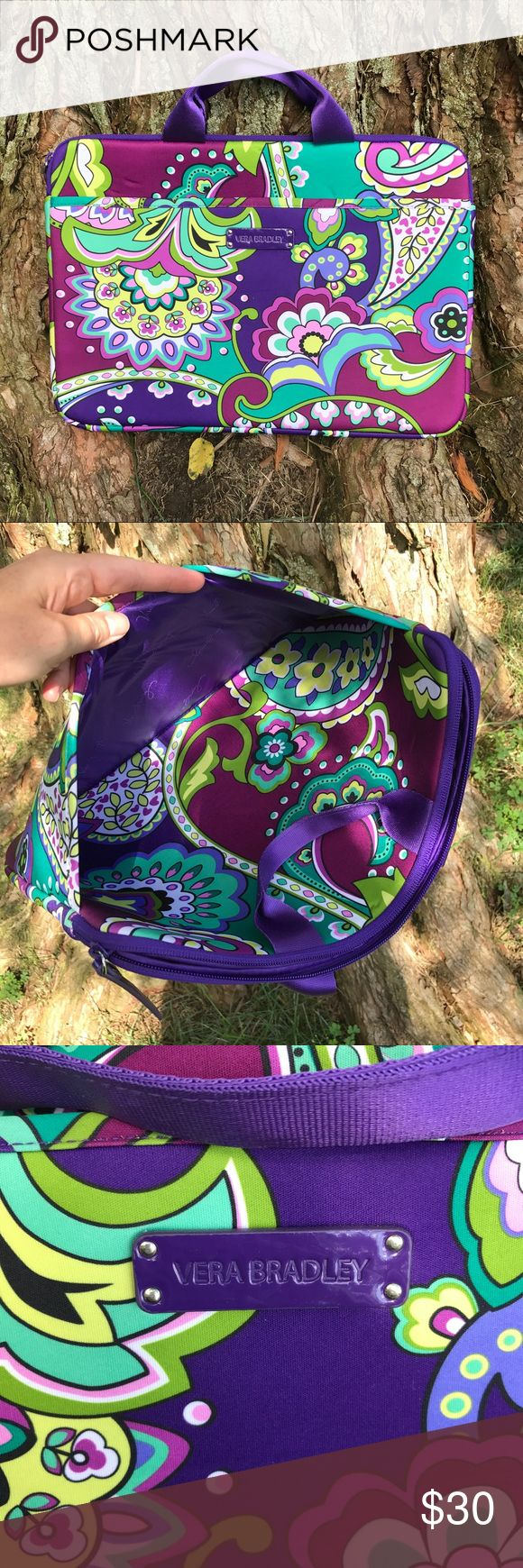 NWOT Vera Bradley Laptop Case Zipper closure w/ additional outside pocket. Tags removed but never used. Neoprene. Vera Bradley Bags Laptop Bags