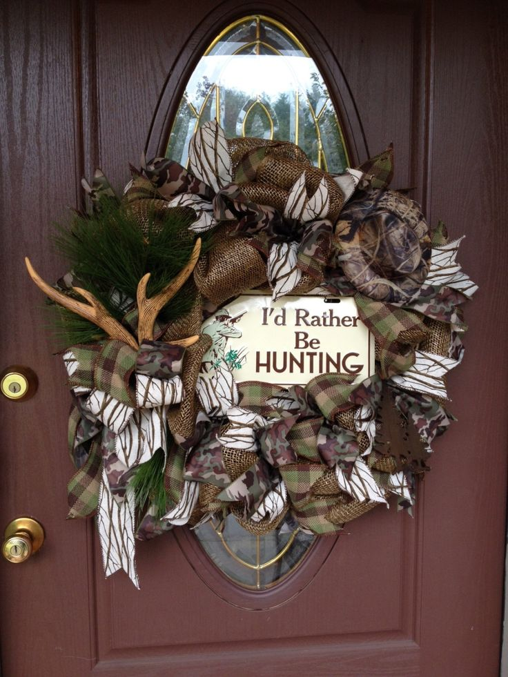 Hunting Wreath, Cabin Wreath, Man's Gift, One of a Kind- On Sale, Shipping Included by ADoorForEverySeason on Etsy