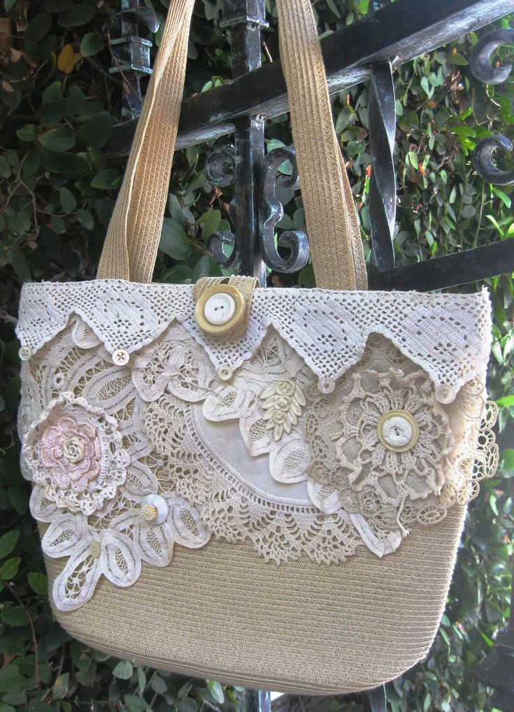 Upcycled Shabby Chic Purse Collaged with by MakeSomethingHappen