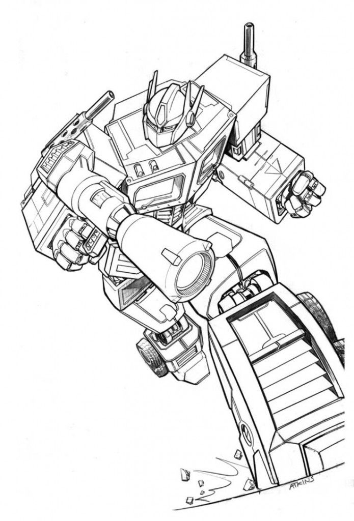 Free Printable Prime Transformer Coloring Pages For Kids Picture