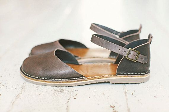 SALE 20% OFF: Grey Sandals Handmade Sandals In Grey by Crupon