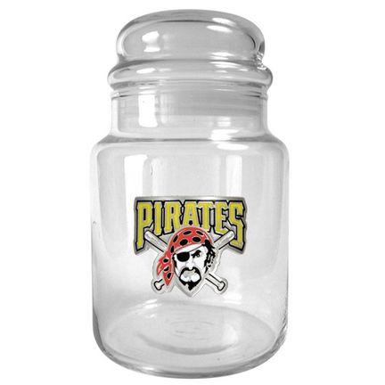 Pittsburgh Pirates 31 oz Glass Candy Jar: An Officially MLB Licensed Candy Jar decorated with a… #Sport #Football #Rugby #IceHockey