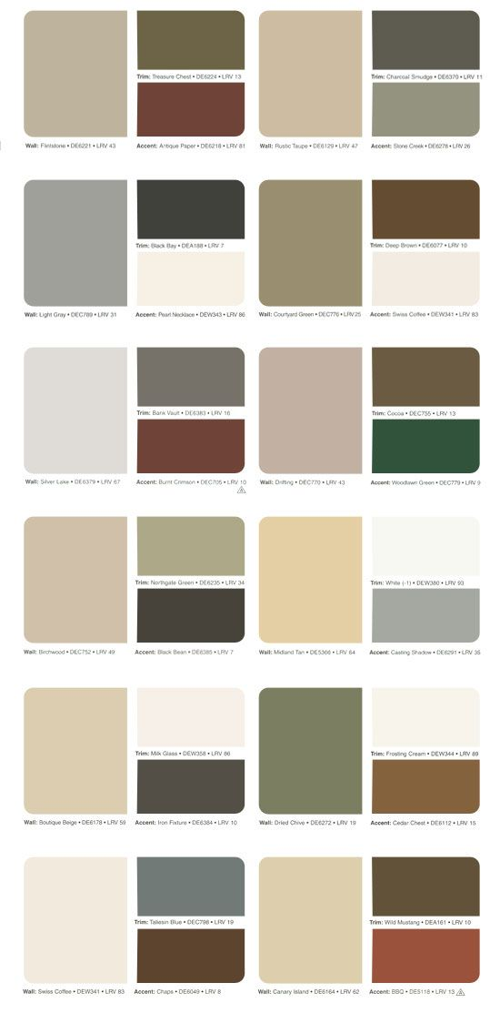 Exterior of homes designs for Interior house paint color chart