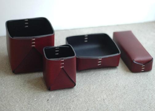 Leather accessories by Oscar Maschera. www.providehome.com