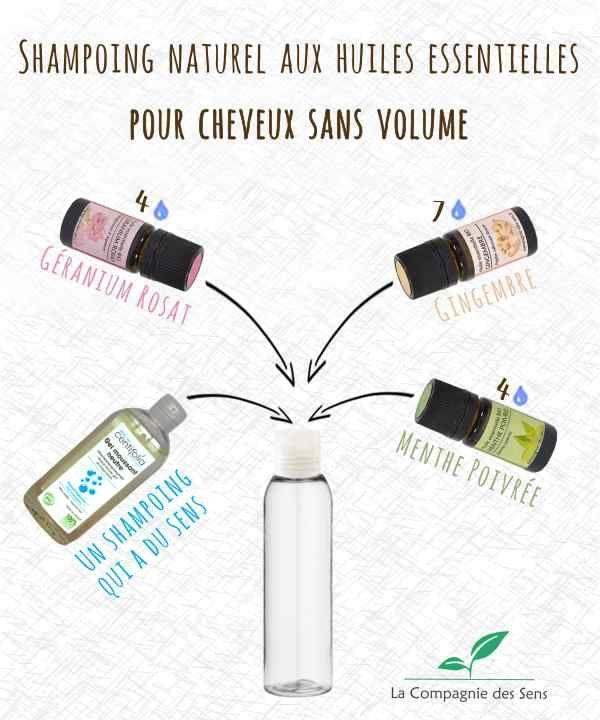 Booster le volume des cheveux avec ce shampoing naturel aux huiles essentielles !
