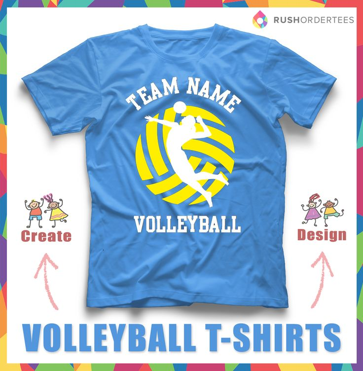 Volleyball Custom T Shirt Design Idea! Edit This Custom T Shirt With Your