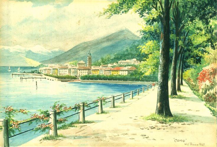 Lake Como by William Albert Edward Jeneway - known as Will Prince