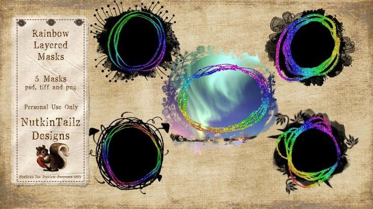 Rainbow Layered Masks