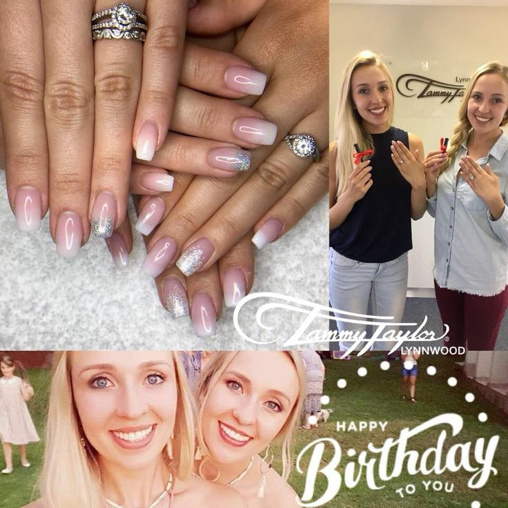 Birthday Nails. Birthday Twins  How adorable are they👩‍❤️‍💋‍👩 French Fade Acrylic Sculpture  It's a Tammy Lifestyle  Cruelty Free  Book your set (061)0540529