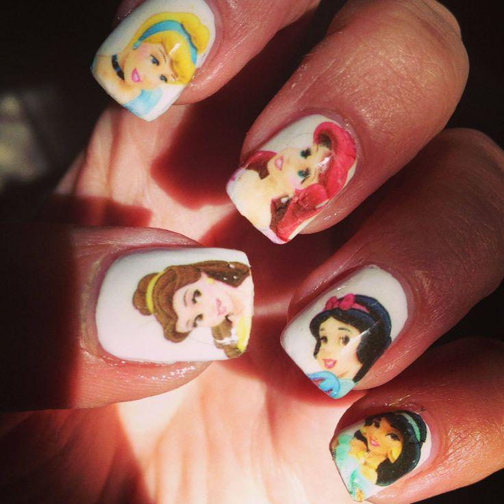 Dress Disney Princess Nails: 17 Best Images About Disney Princess Nails On Pinterest