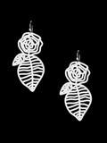 Marzio Fiorini Rubber Jewellery Rozas Earrings in White