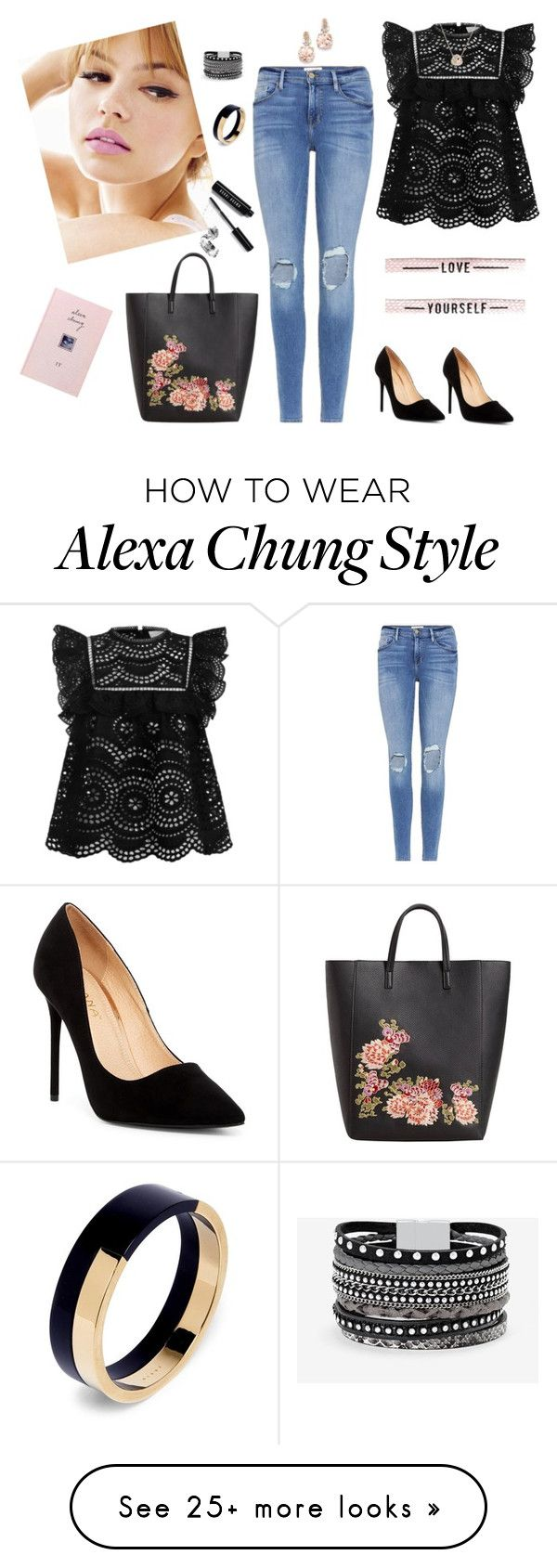 """Untitled #361"" by kim-elba on Polyvore featuring Frame, Zimmermann, Liliana, White House Black Market, MANGO, BillyTheTree, Luna Skye, Marni and Bobbi Brown Cosmetics"