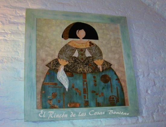 Cuadro menina madera pintura papel decoupage texturas - Cuadro meninas moderno ...