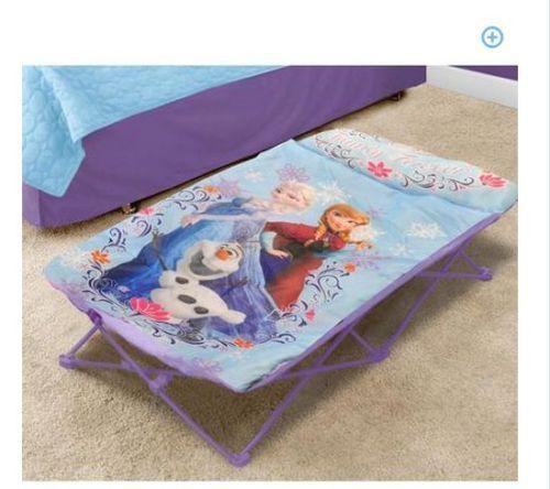 disneys frozen olaf camping  folding bed guest girls elsa anna toddler kids bedroom