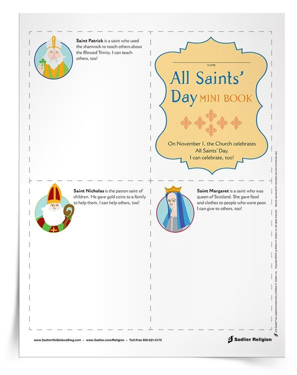 These All Saints Day for Kids activities can be used in the classroom or at home. Children can honor all of the saints!