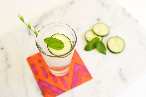 Basil Cucumber Soda Recipe from the seasonal CPK menu at California Pizza Kitchen. It can also be found in their cookbook which would make a great gift!