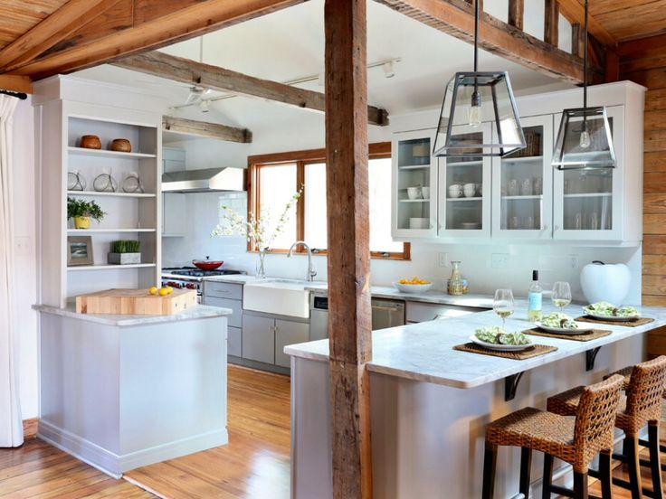 Modern Farmhouse. #rustic #beams #entertainment #comfort · Beach  KitchensHome ... Part 15
