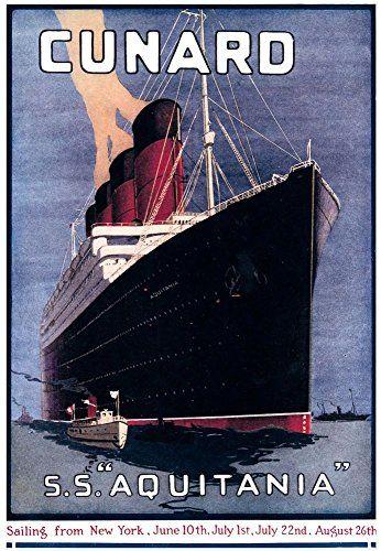 'Cunard - S.S. Aquitania' - Wonderful A4 Glossy Art Print... https://www.amazon.co.uk/dp/B01IUY562E/ref=cm_sw_r_pi_dp_WGZKxb2PRFDZG