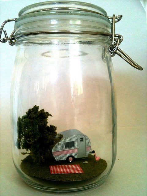 Camping in a bottle.
