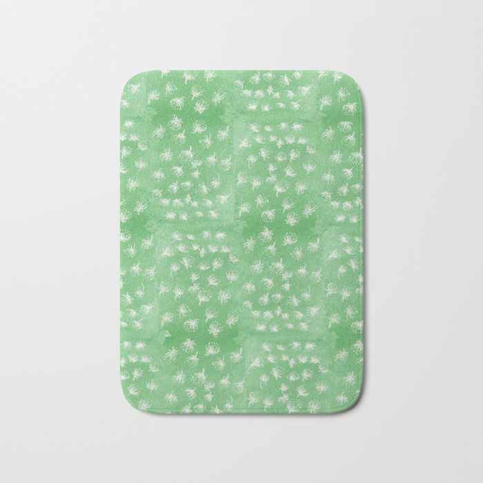 Buy flakes of Pohutukawa- green Bath Mat by emiliegeant. Worldwide shipping available at Society6.com. Just one of millions of high quality products available.