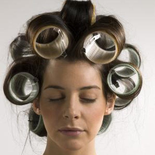 Velcro rollers and the right products result in big curls.
