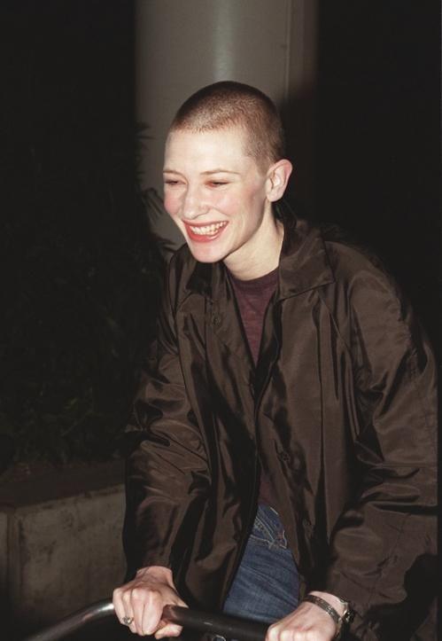 Cate Blanchett buzzed hair