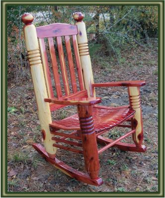 Big Ben Cedar Rocking Chair - Porch Swings - Patio Swings - Outdoor Swings