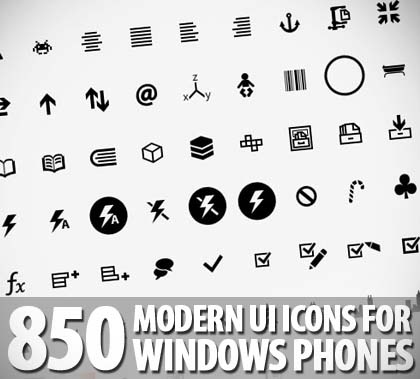 850+ Handcrafted Pixel-Perfect Modern UI Icons For Windows Phone