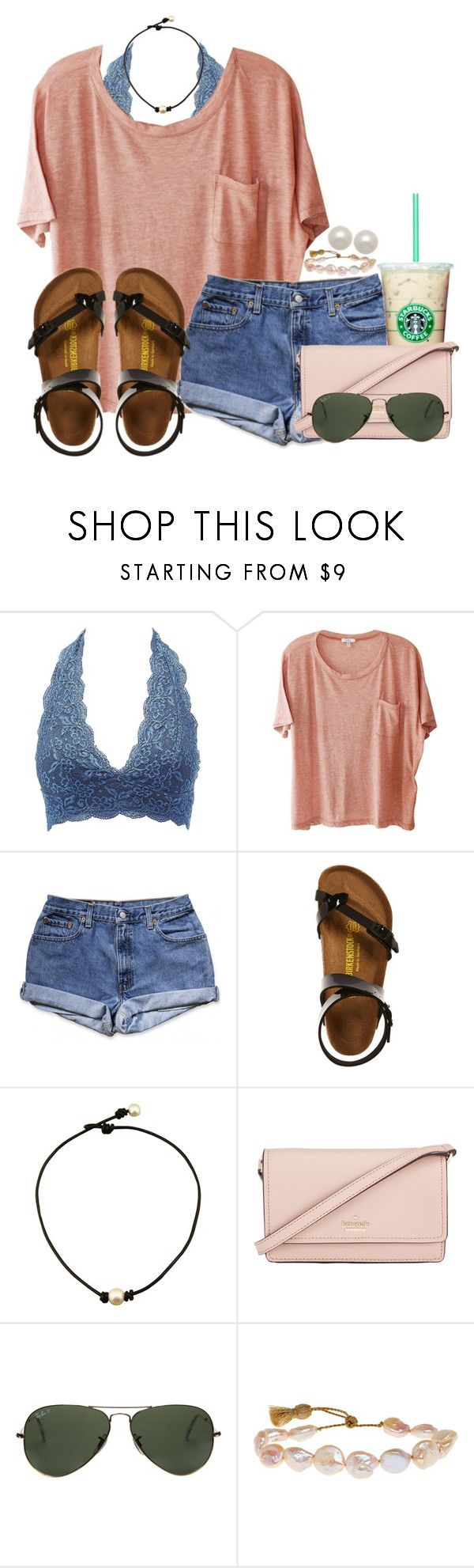 RTD! by annaewakefield ❤ liked on Polyvore featuring Charlotte Russe, Clu, Birkenstock, Kate Spade, Ray-Ban, Lena Skadegard and Honora