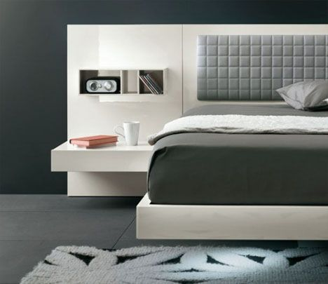 Platform bed with built in night stands! So modern and cool