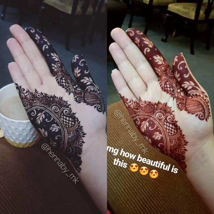 before after henna mehndi design hennaby_mk