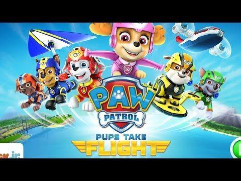 PAW Patrol Pups Take Flight Nick Jr. Kids iPhone Game - YouTube