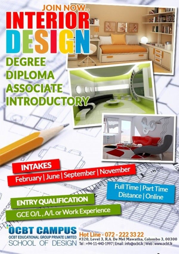 Study Interior Design At Ocbt Campus School Of Design Study