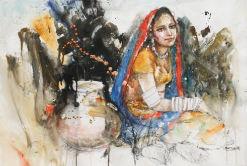 watercolor painting by Moazzam Ali. moazzamali.com