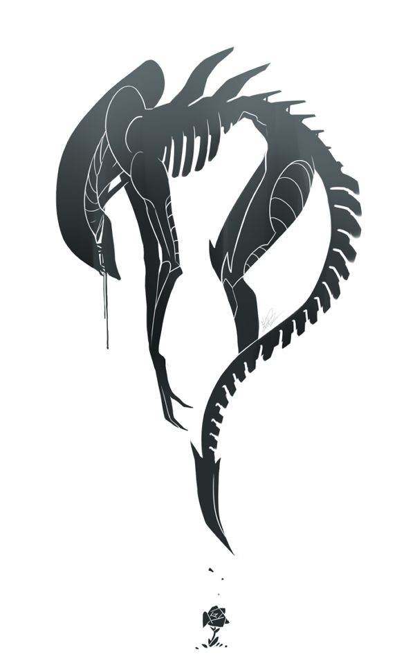 Twitter / lieaplz: A serene but still drooly #ALIEN ... in commemoration of H.R.Giger. #RIPGiger - One of my favourite artist in the world..... we will truly miss your inspiring work sir!
