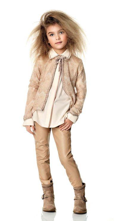 Love the mink-coloured jacket. ALALOSHA: VOGUE ENFANTS: TWIN-SET GIRLS by Simona Barbieri FW2013.