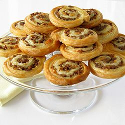 Sausage Pinwheels - Easy, elegant savory -  perfect for cocktails or afternoon tea