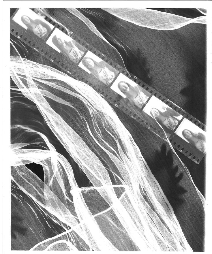 Paige Eager - Photograms, using scarves and negatives
