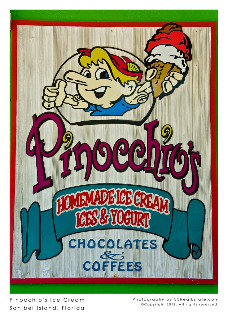 Pinocchio's Ice Cream | Sanibel Island, Florida. I went last summer loved it  went almost every day