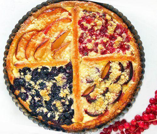 Фруктовый пирог из яблок